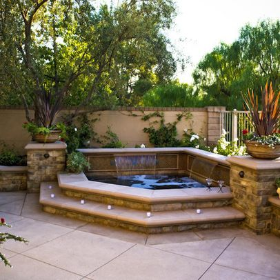 248 best images about hot tub ideas jacuzzi and spa on for Spa patio designs