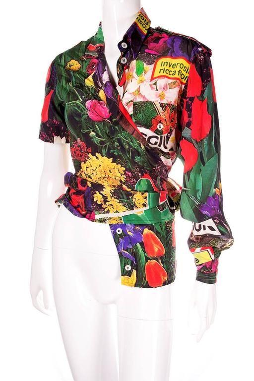 Moschino Couture Avant Garde Asymmetrical Shirt 1990