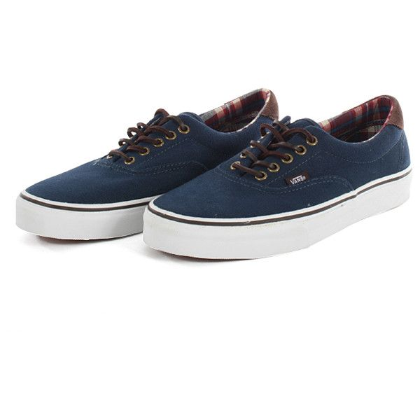 Vans Era 59 Shoes - Navy, Vans Shoes Shoes (€66) ❤ liked on Polyvore featuring shoes, sneakers, vans shoes, navy shoes, vans footwear and navy blue shoes