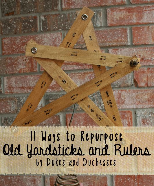11 Ways To Repurpose Old Yardsticks And Rulers