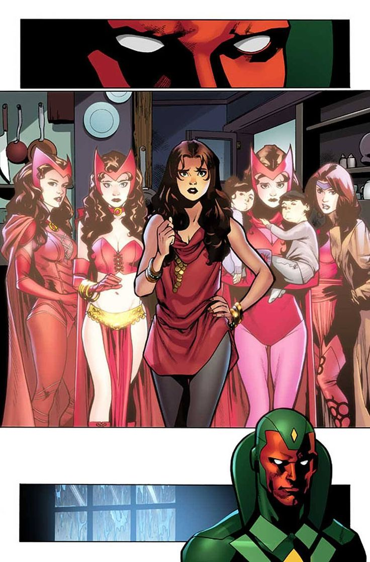 The Scarlet Witch and the Vision by Mahmud Asrar. The Vision reflects on his…