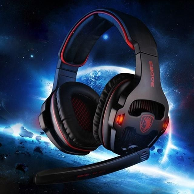 Sades SA-903 7.1 Surround Sound USB Gaming Headphones with Mic