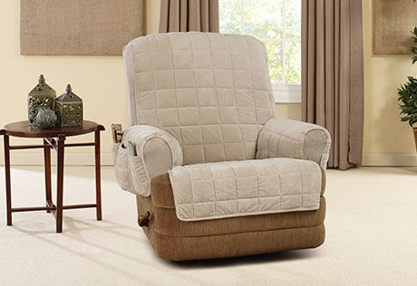 Photo of Silky Touch Recliner Cover