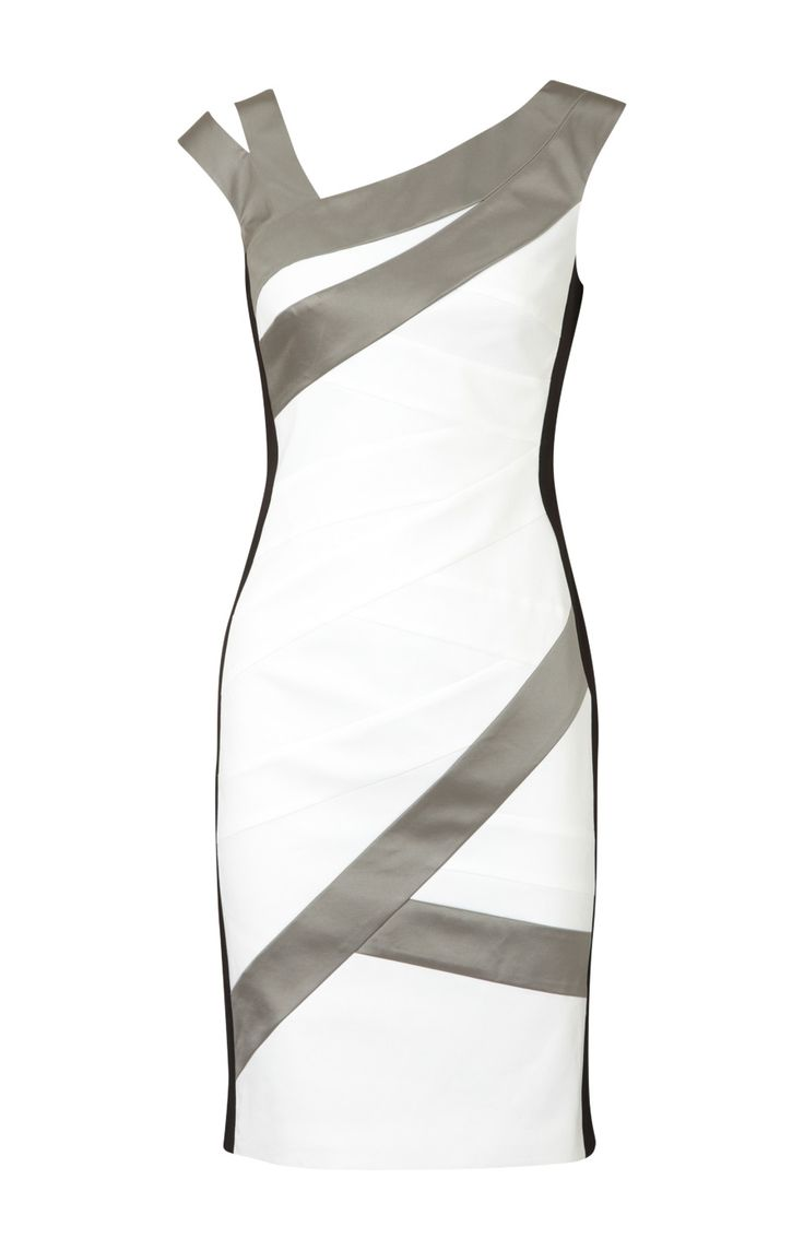 Karen Millen Colourblock Dress White and Multi - Karen Millen Dresses - $86.19