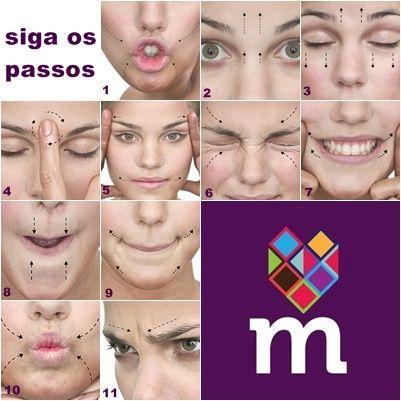 Mas a ginástica facial pode contribuir ainda mais para esses resultados. Siga o tutorial a seguir e prepare-se para fazer muita careta.