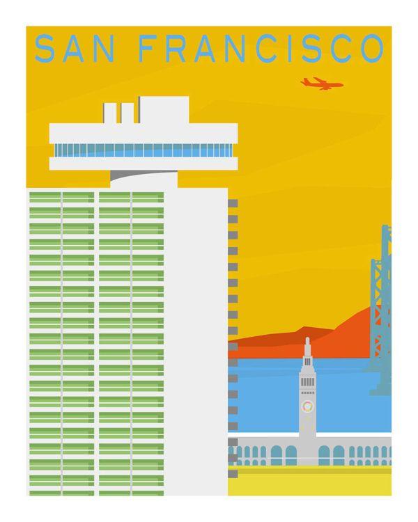 SF Modern Poster: Embarcadero II