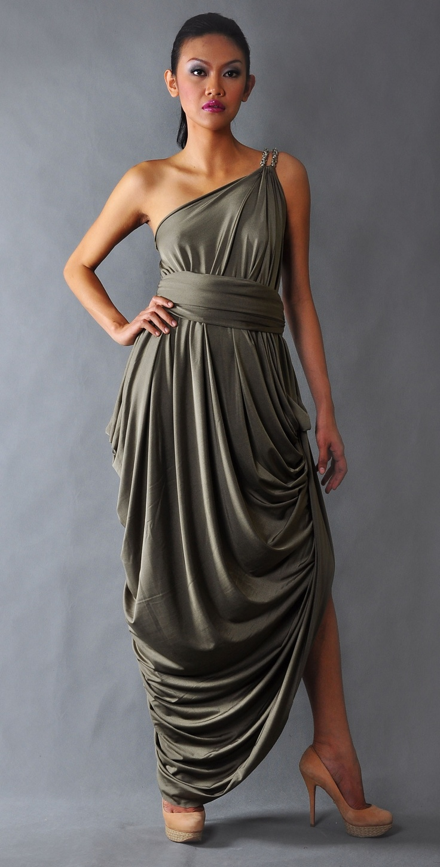Venus draped toga dress toga dresses for bridesmaid dress for Diy party dress