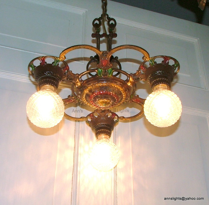 Hanging Gas Light Fixture: 14 Best Antique Lights Images On Pinterest