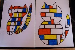Mondriaan-poezen De miniklas, een blog over thuisonderwijs.