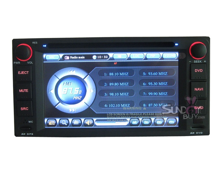 349 Toyota Fortuner DVD Player with GPS PIP (With images
