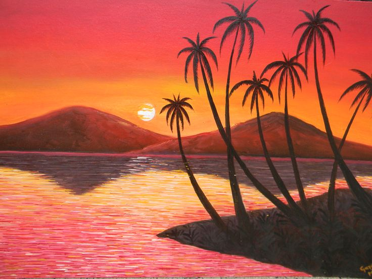 Simple Nature Painting For Beginners Nature Paintings For