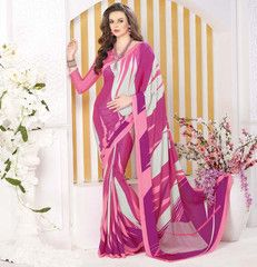 Pink Color Crepe Casual Party Sarees : Panita Collection  YF-42469