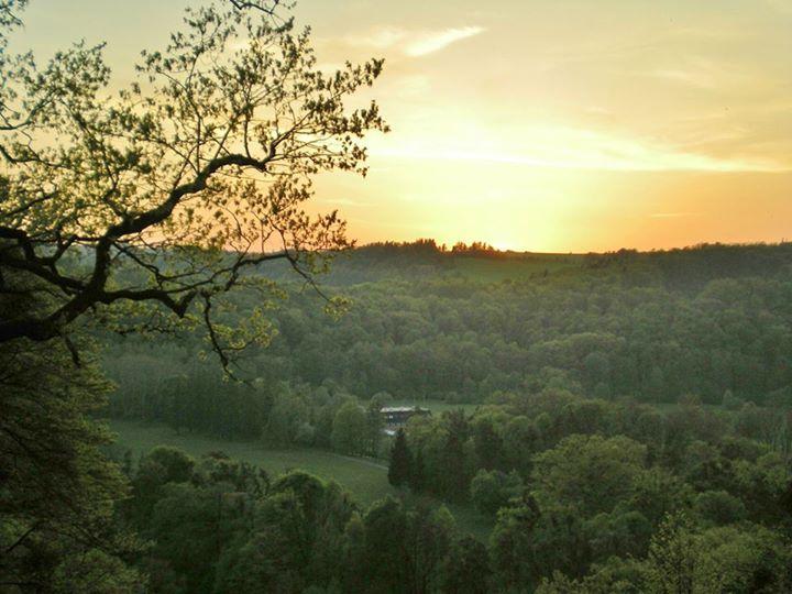 Hradec nad Moravici, sunset