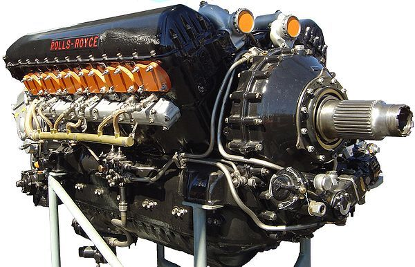 The Rolls-Royce Merlin is a British liquid-cooled V-12 piston aero engine of 27-litres capacity. Rolls-Royce designed the engine and first ran it in 1933 as a private venture. Initially known as the PV-12, it was later called Merlin following the company convention of naming its piston aero engines after birds of prey.