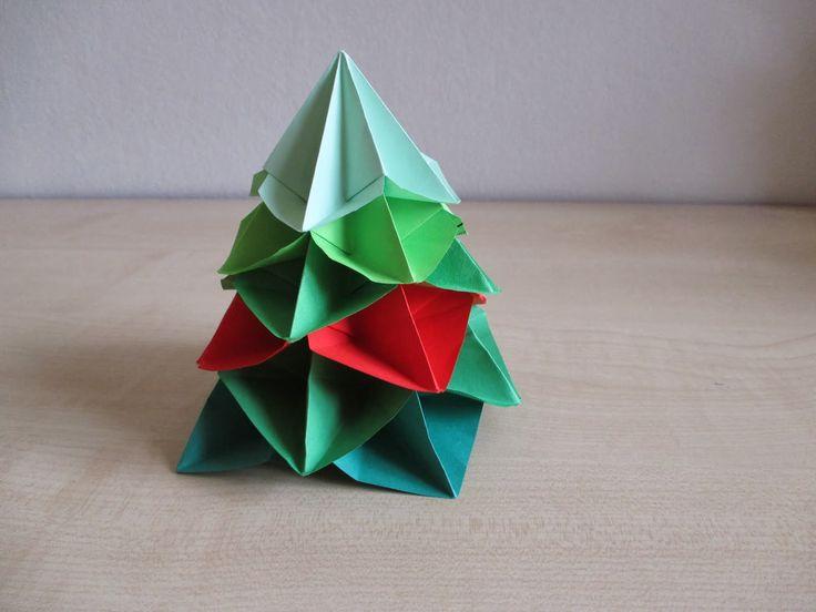 Na stejné vlně: Vánoční stromeček origami