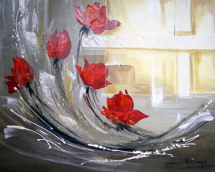 Pintura Gabriela Mensaque para dar una lección en tv