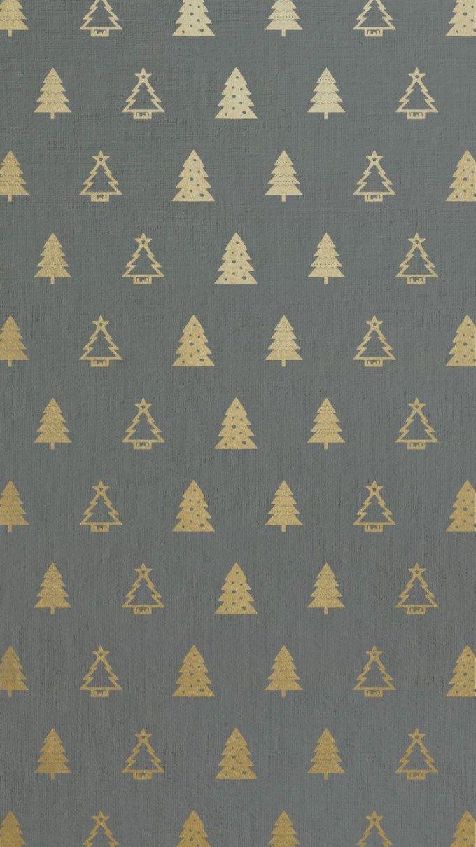 [クリスマス]ゴールドクリスマスツリーパターン iPhone壁紙 Wallpaper Backgrounds iPhone6/6S and Plus Christmas iPhone Wallpaper
