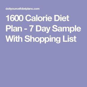 1600-Kalorien-Diät-Plan – 7-Tage-Probe mit Einkaufsliste