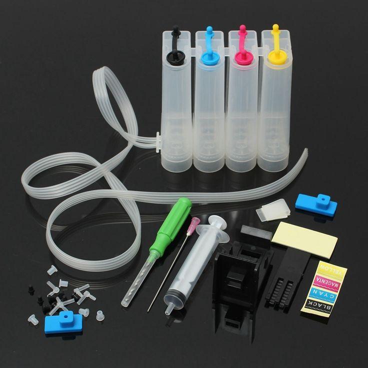 De alta calidad de montaje diy 4 colores ciss del cartucho de tinta recargable para canon impresora de la serie