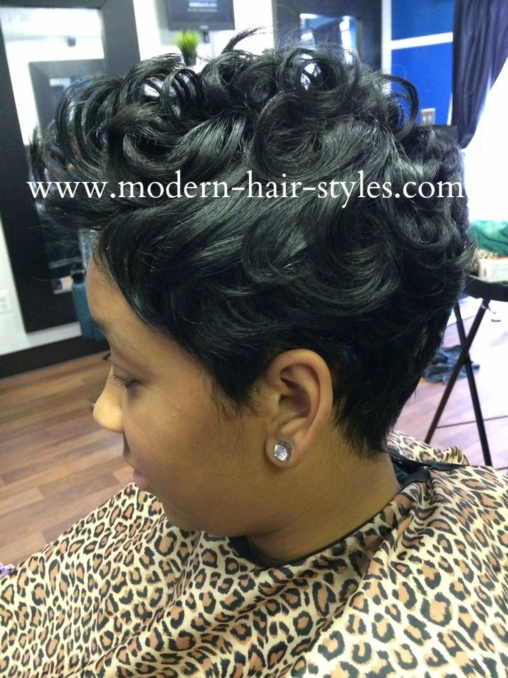 Black Hair Hairstyles Of Short Razor Cuts Quick Weaves
