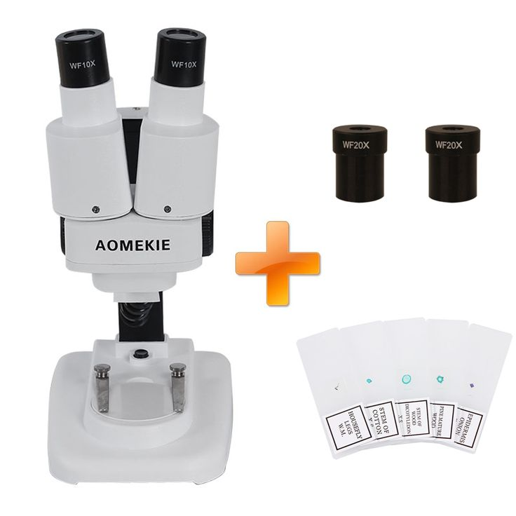 AOMEKIE 20X/40X Binocular Stereo Microscope Top LED Illumination PCB Solder Specimen Watching Kids Science Education with Slides //Price: $57.39//     #shopping