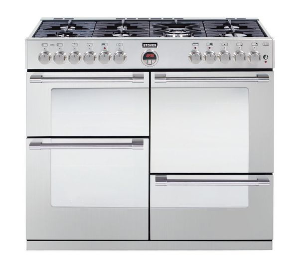 Buy STOVES Sterling R1000DFT Dual Fuel Range Cooker - Stainless Steel | Free Delivery | Currys