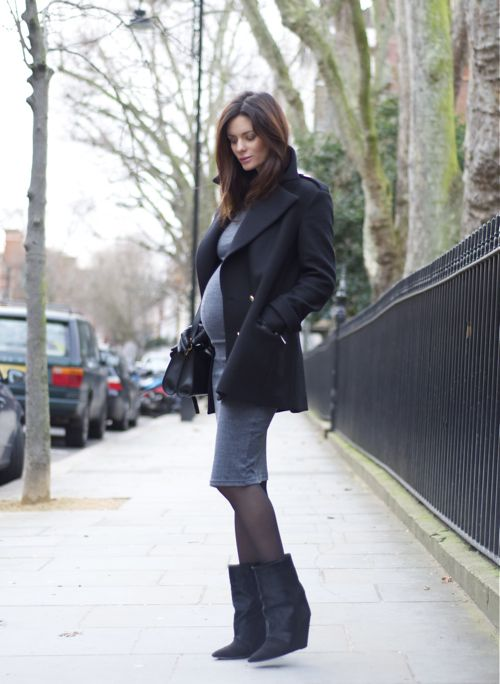 dress by Whistles, boots by Isabel Marant, wool coat from Zara, bag by Proenza Schouler