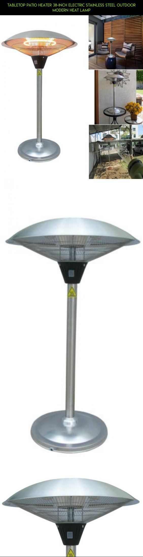 Tabletop Patio Heater 38 Inch Electric Stainless Steel Outdoor Modern Heat  Lamp #fpv #