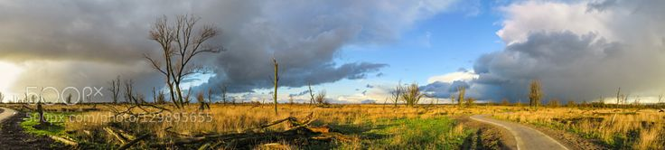Panorama storm clouds and sunny weather by Rene_Keultjes_Photography. Please Like http://fb.me/go4photos and Follow @go4fotos Thank You. :-)