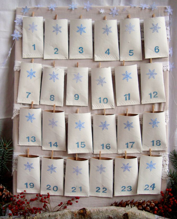 Idea or countdown calender for birthdays. Laminate tubes for ability to reuse for each kid?..