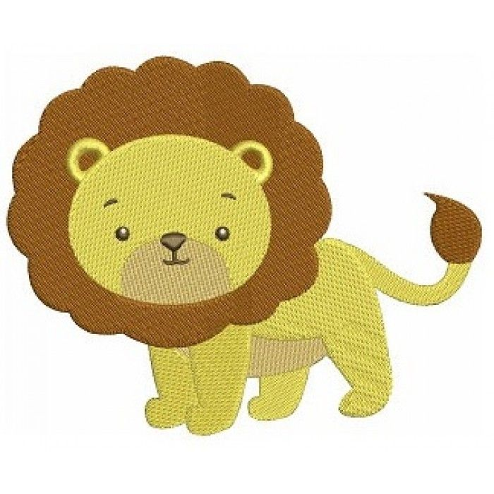 Instant download lion african animal machine embroidery