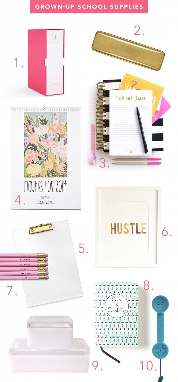Grown-Up + Glam School Supplies | www.theglitterguide.com