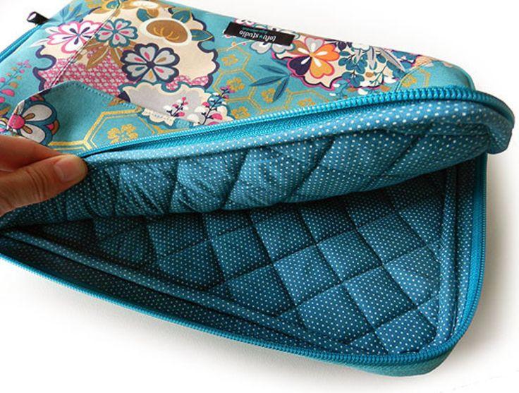 capa para notebook, capa para laptop, tofu studio, capa de tecido para laptop, estampa tradicional japonesa