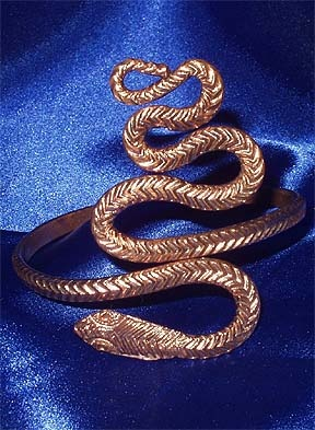 snake upper arm bracelet