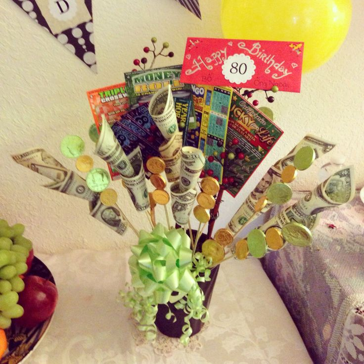 Money Bouquet 80th Birthday Ideas Money Bouquet 80th
