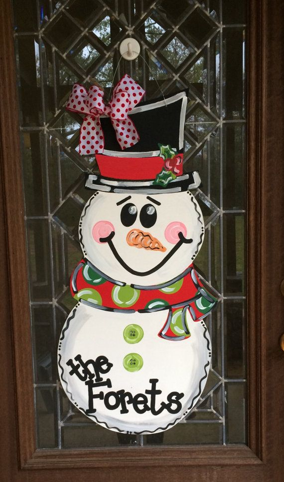 christmas snowman door hanger snowman door hanger christmas door hanger painting christmas cheerfulness pinterest christmas snowman door and