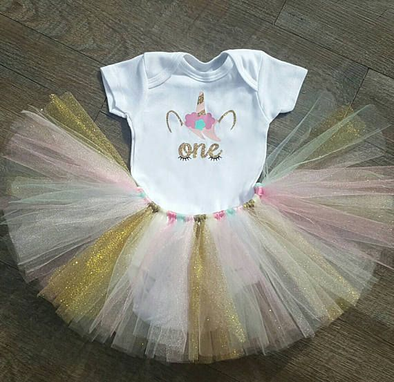 Unicorn First Birthday Outfit Unicorn Tutu Unicorn ...
