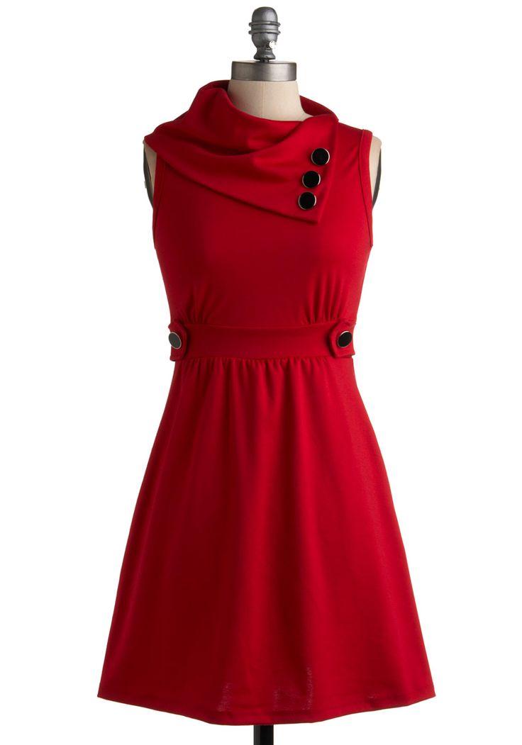Red too! Coach Tour Dress in Rouge | Mod Retro Vintage Dresses | ModCloth.com