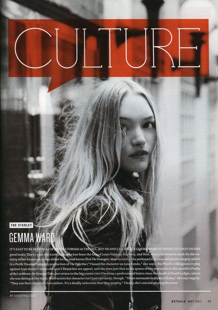 Details Magazine - Gemma Ward