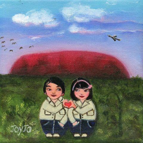 Mei+Kenji at Uluru Artprint