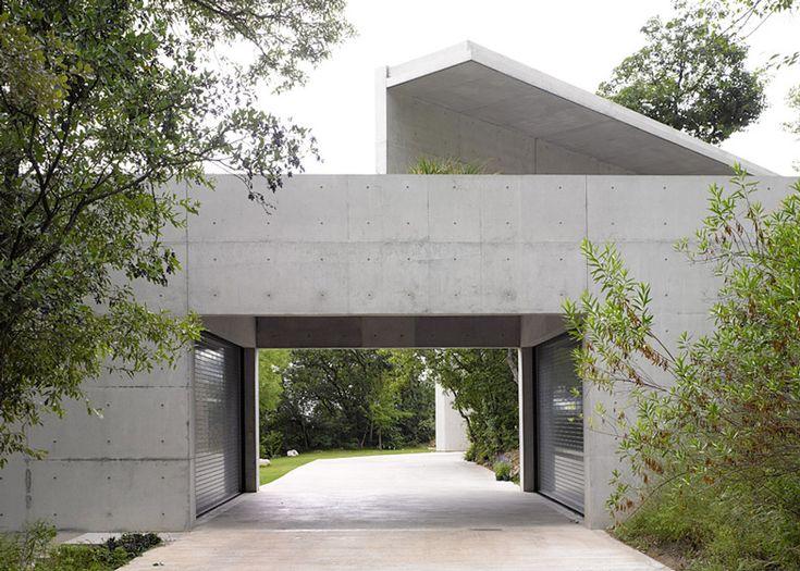 Tadao Ando's Casa Monterrey nestles against a hillside in Monterrey