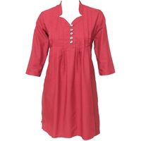 Pleated cotton kurta with wood buttons @ 10% off. Free shipping in India. COD available. We deliver worldwide