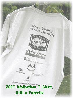 Walk-a-thon planning guide: T Shirts, Money Maker, Walkathon Sponsor