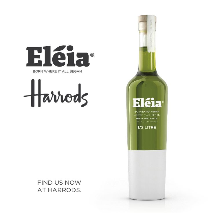 We are THRILLED to announce that Eleia - Greek Premium Extra Virgin Olive Oil is now available at Harrods!! www.eleia.gr