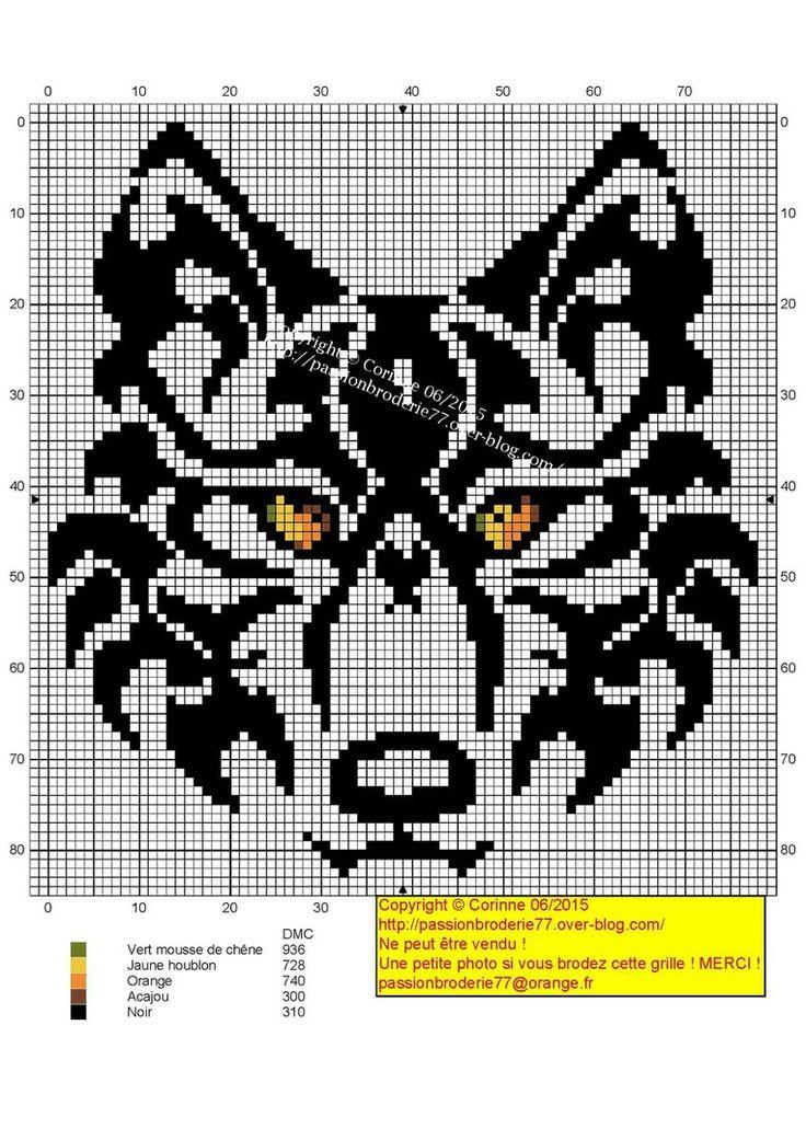 Для жаккарда, филейного вязания и вышивки wolf