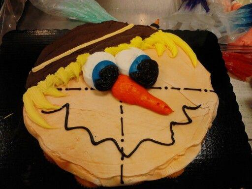 scarrcrow cupcake cake
