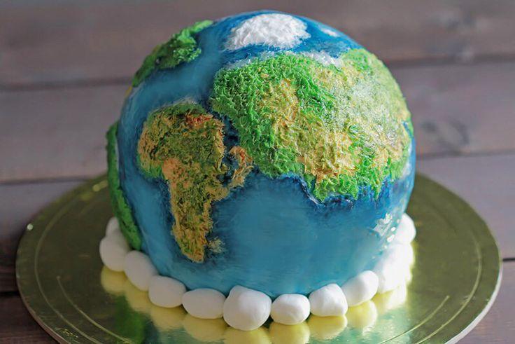 Planet earth cake. Торт планета Земля