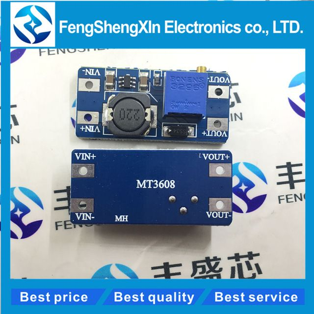 5Pcs MT3608 DC-DC Step Up Power Supply Module Booster Power Module 2A New