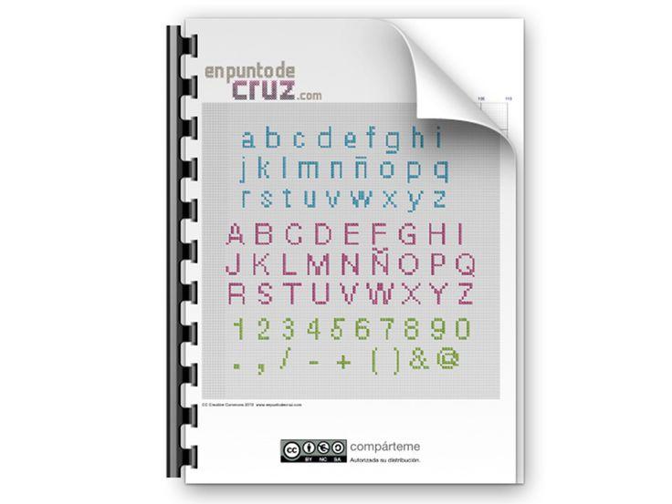 Patrón gratis en punto de cruz: Abecedario: Cross Stitch, Semanal En, Free, Gratis Semanal, Free Pattern, Cruz Gratis, Blog En, Gratis Abecedario, O'Clock