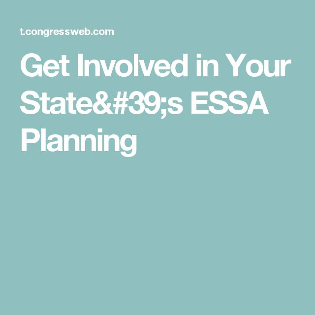 Get Involved in Your State's ESSA Planning